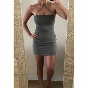 "Tobi ""Cross It Off"" Olive Bodycon Dress"